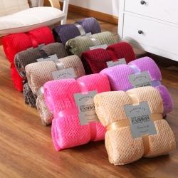 (总)海雷毯业  纯色贝贝绒毯菠萝格法兰绒毯