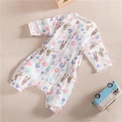 (总)吖噢 纯棉纱布睡袋六层纱布加厚婴幼儿分腿家居服