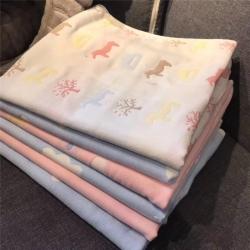 吖噢 纯棉纱布隔尿垫亲肤婴儿可水洗三层双面竹纤维防水透气尿布