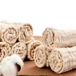 吖噢 嬰兒尿布有機彩棉紗布可洗尿片新生兒尿布寶寶純棉介子布