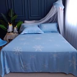 厂家直销夏季竹纤维床单、粗布、亚麻、软凉席三件套可水洗机洗