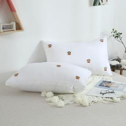 启艾 全棉贡缎绣花羽丝绒枕(大嘴猴)枕芯 儿童枕芯
