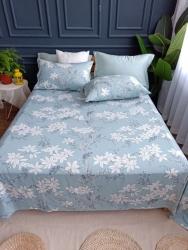厂家直销夏季竹纤维软凉席床单凉席三件套可水洗机洗