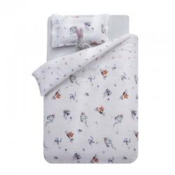 御棉坊A類雙層紗布兒童被套純棉嬰兒幼兒園寶寶小被罩狐貍兔子熊