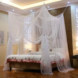 蚊帳定制定做特殊尺寸蚊帳榻榻米架子床圓床落地加密四柱床款