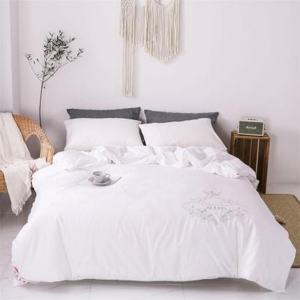 傲蕾良品正宗100%特级双宫桑蚕丝被全棉绣花冬被纯棉夏被定制