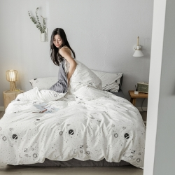 (总)我心家纺 2019新款全棉印象风四件套床单款