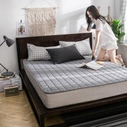【垫之坊家纺床垫供货】新款18年磨毛床护垫正方格升级版