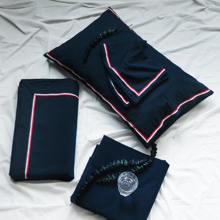 (总)爱尚佳 色织水洗棉英伦风织带床笠款四件套