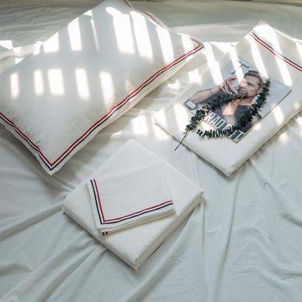 (总)爱尚佳 色织水洗棉英伦风织带床单款四件套