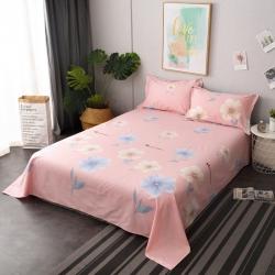 鑫程家纺 新品128×68全棉单品床单 朵拉花园