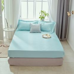[总]纯色冰丝凉席床笠款冰丝席三件套藤席