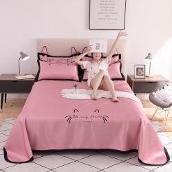 (总)河马制造床单款 凉席 冰丝席 空调席 猫咪绣花软席