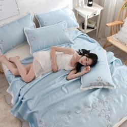 (总)河马制造 床单式凉席 欧式冰丝席 凉席 空调席 绣花席