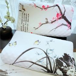 正品皇家绅士中国风乳胶枕头枕芯成人单人狼牙按摩乳胶枕
