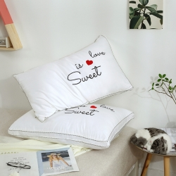 (总)赛格时代家居 枕芯 全棉枕芯 全棉贡缎绣花羽丝绒枕