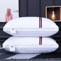 兴丝露枕芯 磨毛彩条立体枕 特价枕芯 羽丝枕 网销赠品