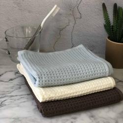 3条装华夫格全棉面巾100%棉 MUJI毛巾日式尾单专柜同款