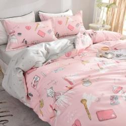 小清新床上四件套全棉纯棉三件套简约