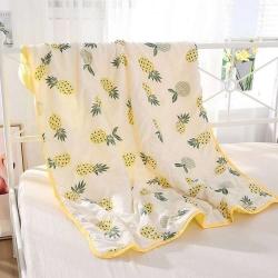 小孩午睡菠萝小棉被夏季空调房儿童棉毯子宝宝盖被子可水洗夏凉被