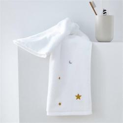梦幻岛品质家居 星月刺绣全棉加厚毛巾大浴巾套巾组合