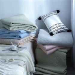 丽涵家纺 2019新品天竺棉夏凉空调被 全棉针织夏被 纯粉色