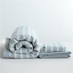 (总)安欣家纺 全棉色织水洗棉夏被单品三件套四件套日式良品