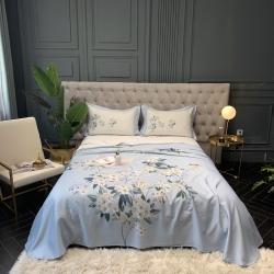 竹纤维天丝凉席数码印花天然软凉席子床单款三件套-淡墨轻依-兰