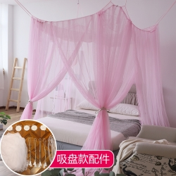 免安裝方頂宮廷蚊帳老式公主風吊頂床幔家用1.5/1.8米蚊賬
