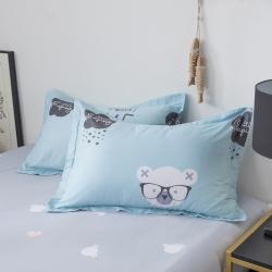 (總)橡果家紡 2019新款純棉單品全棉枕套48*74一對