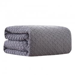 (总)颜初家居 2019新款仿羊绒针织菱形毯针织毯毛线毯搭毯