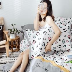静家居 2019新款北欧全棉刺绣3拼四件套北欧风格 豹纹-白