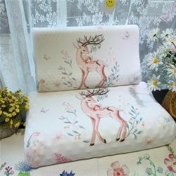 正品皇家绅士大阪卡通风乳胶枕成人儿童乳胶枕单人乳胶枕精灵鹿
