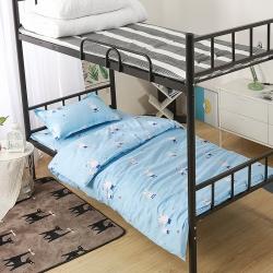 全棉三件套寄宿学校多件套公寓宿舍棉花被被套床单枕头学校采购