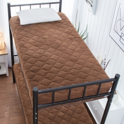 学生宝宝绒素色床垫0.9m米床褥子加厚榻榻米可折叠地铺睡垫