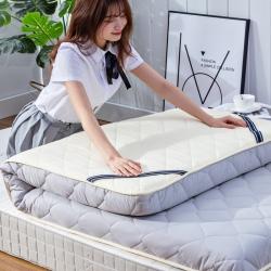学生素色水洗棉床垫9cm厘米床褥子加厚榻榻米可折叠地铺睡垫