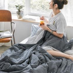 北歐良品 2019款水洗棉夏被空調被夏涼被四件套無印良品