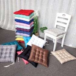 (总)李帅家居钉针坐垫 棉麻馒头垫椅子垫蒲团垫 实木沙发垫
