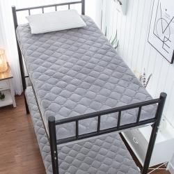 学生宝宝绒素色床垫9cm厘米床褥子加厚榻榻米可折叠地铺睡垫