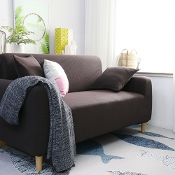 2019新款高端金粒绒品质沙发套全包万能套沙发垫沙发巾绅士棕