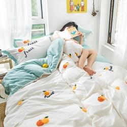 (总)全棉水洗棉毛巾绣刺绣三件套四件套 床笠款