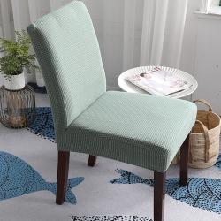 2019新款高端金粒绒连体椅套椅垫全包椅套松柏绿