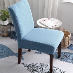 2019新款高端金粒绒连体椅套椅垫全包椅套西湖蓝