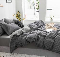 (總)爾米家紡 2019新款全棉色織水洗四件套床笠款