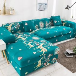 2019高端风格组合L型沙发套全包沙发套罩网红沙发套幸福一家