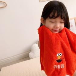 梦幻岛品质家居 芝麻街毛巾浴巾两件套