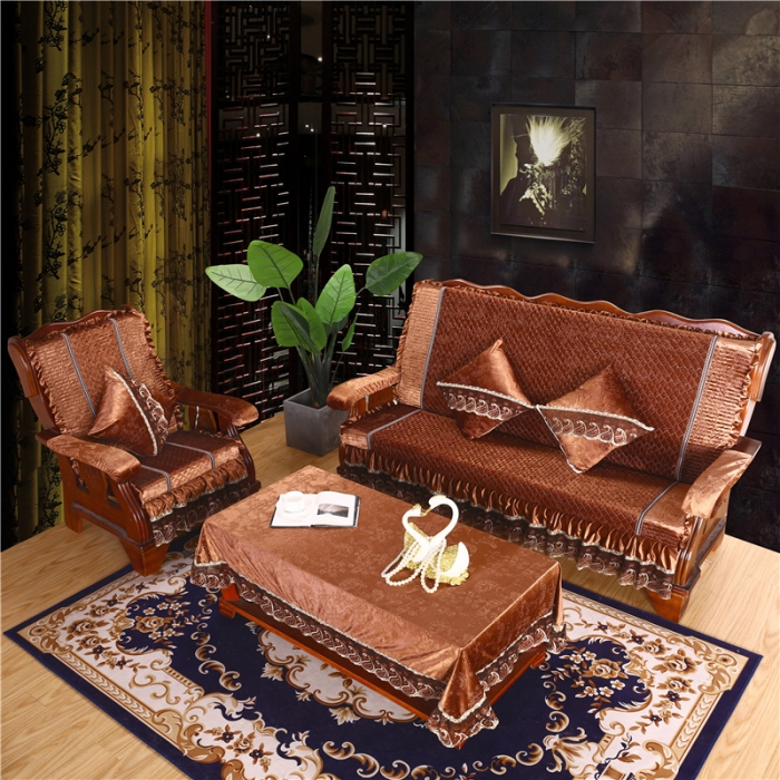 新款2019加厚海綿紅木實木沙發坐墊木沙發墊帶靠背聯邦椅墊
