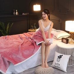 加厚絎縫夾棉休閑復合毯 雙面法萊絨三層毛毯蓋毯軟床墊加厚床單