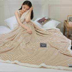 新款6斤多功能被套毯加厚毛毯法莱绒贝贝绒单被套可拆卸被子冬被