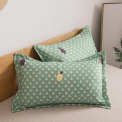 (總)博舟家紡 磨毛印花枕套 一對裝 30*50cm